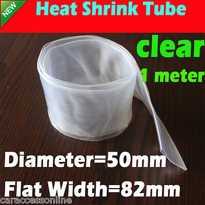 Heat Shrink tube Heatshrink tubing Sleeving Clear Dia=50mm 1meter  AU STOCK