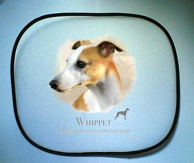 Whippet Design No 17495 Pair Of Car Side Window Sun Screens