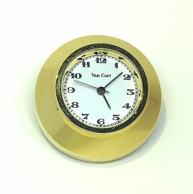 "Small Clock approx. 1""x1""x1"" polished brass Japanese works"