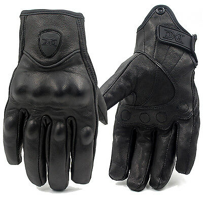 Motorcycle Bicycle Riding Racing Bike Protective Armor Short Leather Gloves