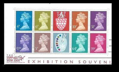 Great Britain Stamp Show 2000 S/S Sc# MH279a NH