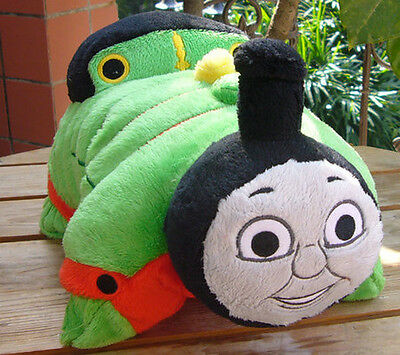 """THOMAS TANK ENGINE FRIENDS PERCY~ Pillow Pee wee Pets 12"""" Plush Pillow no tags"""