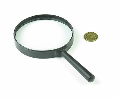 "Jumbo MAGNIFYING GLASS LARGE  10 cm    4""  X 3 HIGH OPTICAL CLARITY GLASS LENS"