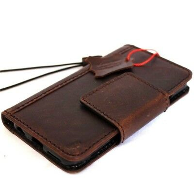 genuine vintage real leather Case fit apple iphone 6s 6 plus book wallet cover