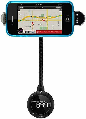 Belkin in Car FM Transmitter 6 TuneBase FM Live  Compatible With iPhone 4