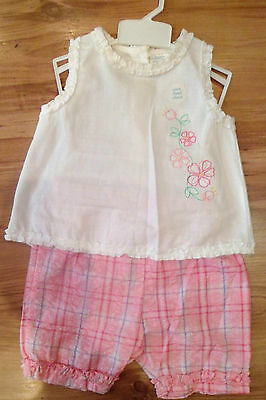 New Girls Summer Outfit 2 Part Set Top & Shorts 2 Years By Bear Essentials