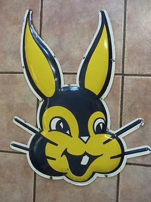 HUGE 1963 Vintage Bunny Bread Sign Stout   Antique Extremely RARE Bakery 9504