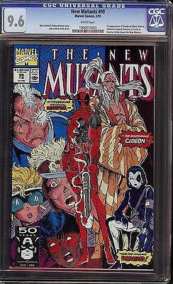 New Mutants # 98 CGC 9.6 White 1st appearance of Wade Wilson Deadpool