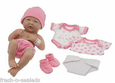 "La Newborn Real 14"" Life Baby Girl Doll Set Brand Berenguer Like Original Pink"
