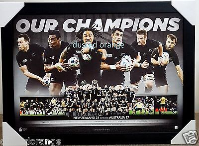 All Blacks Rugby 2015 World Cup Limited Edition Print Framed New Zealand