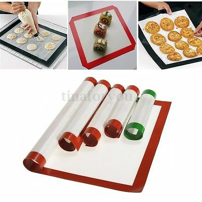 Silicone Fibreglass Bakeware Silpat Tray Oven Liner Dough Rolling Mat Baking