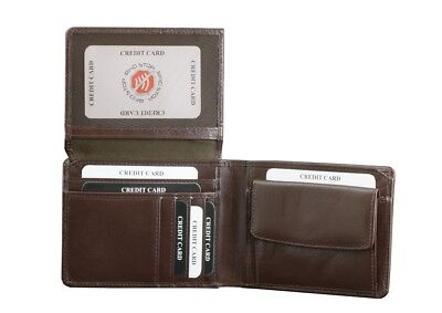 Black Buffalo Mens Leather Wallet RFID BLOCKING Protection Card Clash solution