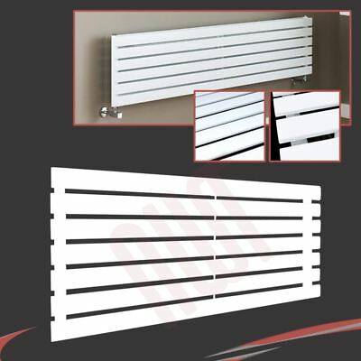 "1250mm(w) x 516mm(h) ""Corwen"" Horizontal White Flat Panel Radiator - 3219 BTUs"