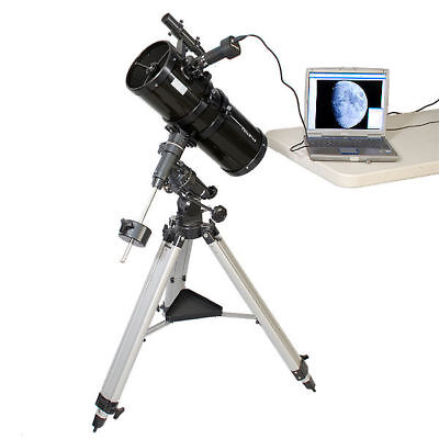 "Black 6"" Reflector Telescope Space Photography Bundle"