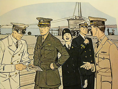 Druck 41 x 51 cm Uniforms of the UNITED STATES NAVY 1922 - 1931