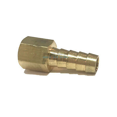 3/8 HOSE BARB X 1/4 FEMALE NPT Brass Pipe Fitting NPT Thread Gas Fuel Water Air