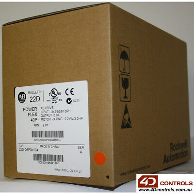 Allen Bradley 22D-D6P0N104 PowerFlex AC Drive - New Surplus Sealed - Series A