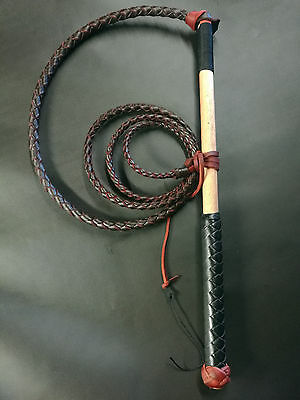 5ft Red Hide Stock Whip Stockwhip , 6 crackers free post