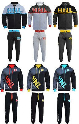 a190facb31b02 BOYS GIRLS TRACKSUIT Childrens Hooded Top Jogging Bottoms Kids Jogging Suits