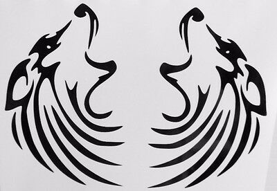 Wolf Moon Howling Pair Silhouette Car Truck Window Vinyl Decal Sticker 12 Colors
