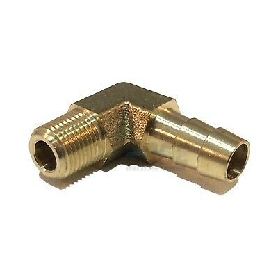 5/16 HOSE BARB ELBOW X 1/8 MALE NPT Brass Pipe Fitting Thread Gas Fuel Water Air