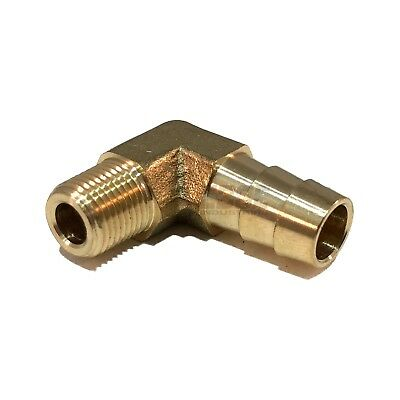 3/8 HOSE BARB ELBOW X 1/8 MALE NPT Brass Pipe Fitting Thread Gas Fuel Water Air