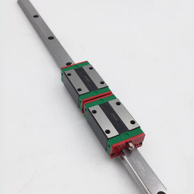 HIWIN HGR15 L1200mm Linear Guide Rail +2pc HGH15CA 15mm Block CNC Router Milling