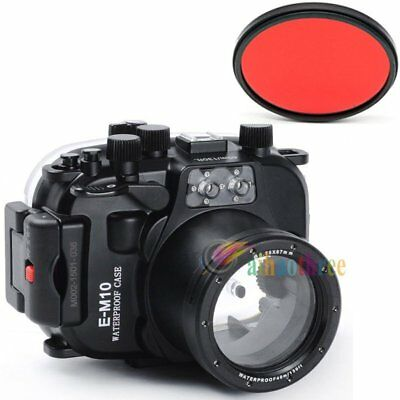 Meikon 40M 130ft Waterproof Diving Case Cover For Olympus EM10 14-42mm Camera【AU