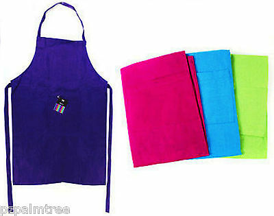 100% Cotton Kitchen Apron with Pocket Plain Cooking Baking Butchers Bakeoff Chef