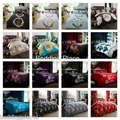 Designer Range Duvet Cover with Pillow Case Quilt Cover Bedding Set All Sizes