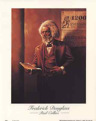 FREDERICK DOUGLASS by Paul Collins - 8x10 In Art Print