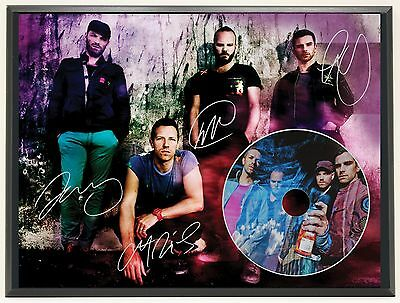 Coldplay Ltd Edition Signature Series Picture Cd Display Gift