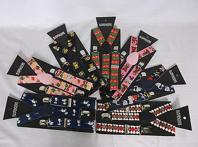 Childrens Braces Childrens Patterned Braces 2.5cm Childrens Braces Boys Braces