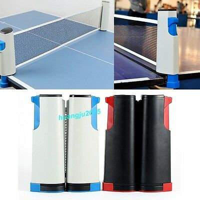 Portable Telescopic Table Tennis Net Rack Replacement Retractab Ping Pong Kit UK