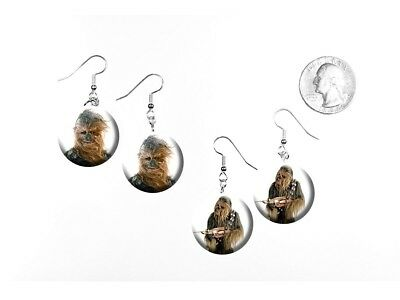 Chewbacca Star Wars Character Han Solo's Buddy 2 Pairs of Charm Earrings