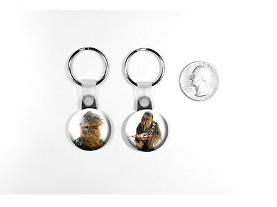 Chewbacca Star Wars Character Han Solo's Buddy Set of 2 Key Chains