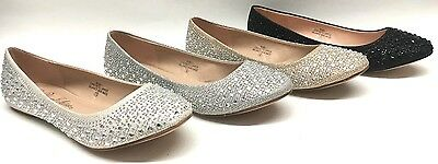 NEW Women's Blossom Baba1 WEDDING PAGEANT Rhinestone Dressy Party Flats Shoes