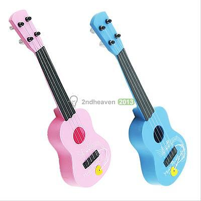 17'' Wood Toy 4String Child Acoustic Uke Guitar Simulate Develop Music Kid Gift