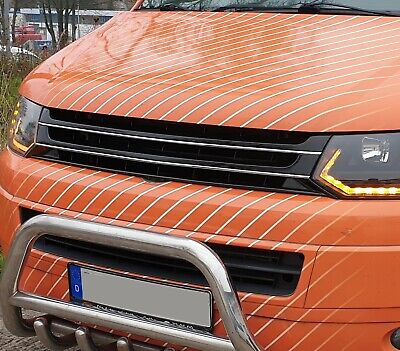 ABS Frontgrill Kühlergrill Grill ohne Emblem Sportgrill VW T5 Bus Facelift 09-15