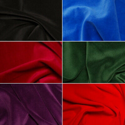 100% Cotton Velvet Fabric Plain Costume Dressmaking Eveningwear
