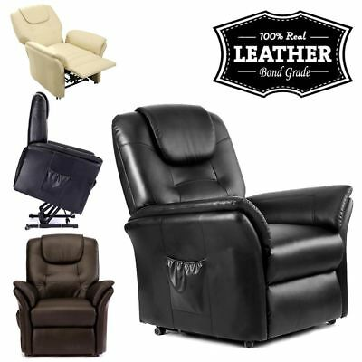 Windsor Elecrtic Rise Recliner Leather Armchair Sofa Lounge Chair