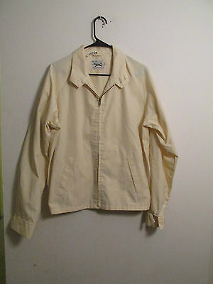 Vintage JC PENNY The Fox Yellow Lightweight Men's Zip Front Jacket Size Large