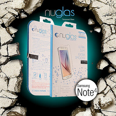 Genuine Nuglas Tempered Glass Screen Protector for Samsung Galaxy Note 4 9H