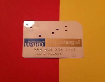 """RARE VINTAGE """"1960-70's MONTGOMERY WARD - NATIONAL CHARGALL CREDIT CARD"""" EXPIRED"""
