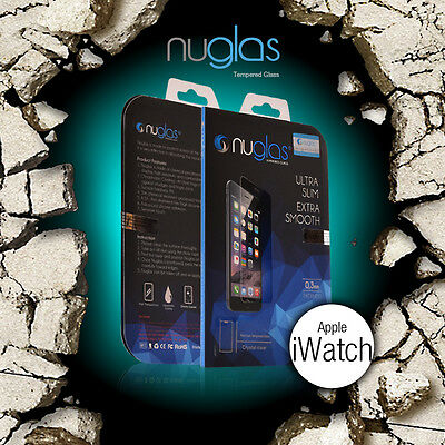 Genuine Nuglas Tempered Glass Screen Protector for Apple iWatch 38mm 42mm