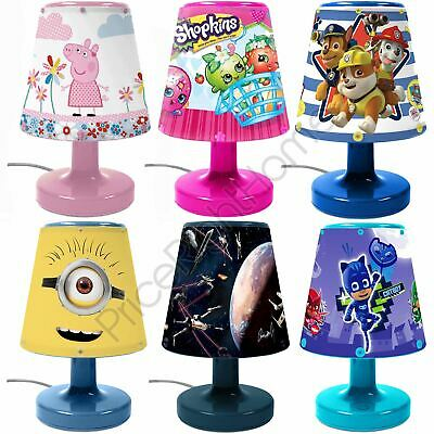 Bedside Lamps Kids Bedroom Lighting - Minions Star Wars Paw Patrol & More