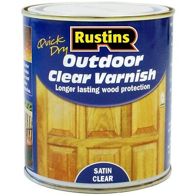 Rustins Quick Drying Outdoor/Exterior Varnish Satin Clear - 2.5 Litre