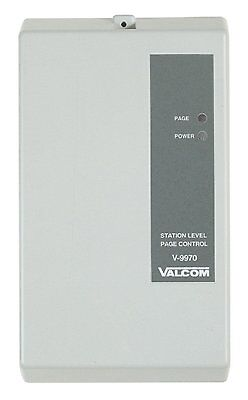 Valcom V-9970 - PAGE CONTROLS  DIGITAL 1-ZONE PAGE ADAPTER-ONE WAY