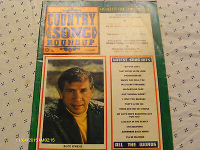 Buck Owens Covers Country Song Roundup Magazine December 1969 Bill Anderson