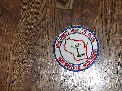 c.b. club, patch,marshfield,wisconsin,tri county 19er ,new old stock,  ,1960's